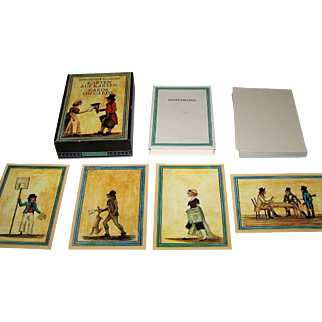 "Edition Leipzig ""Karten auf Karten"" (""Cards on Cards"") Facsimile Playing Cards [Facsimile of Early 19th Century Cards], Edward Hawke Locker Designs, c.1982"