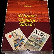 "Piatnik ""Wiener Veduten Tarock"" No. 2851 Tarock Cards w/ Otto Stradal Book, c.1985"