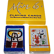 "Double Deck Piatnik ""Joan Miro"" Playing Cards, c.1993"