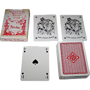 "S. Salomon & Co. (VASS?) ""Holmblads Billeder Eneret No.128"" Playing Cards, C.L. Wuest Designs, c. 1950s"