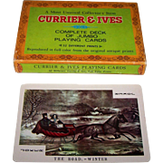 "Merrimack ""Currier & Ives"" Jumbo Playing Cards, c.1970s"