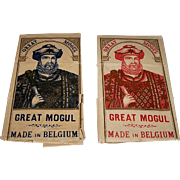 "2 Large Van Genechten ""Great Mogul"" Wrappers, $25/ea., c. 1910"
