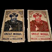 """2 Large Van Genechten """"Great Mogul"""" Wrappers, $25/ea., c. 1910"""