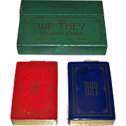 "Double Deck USPC ""We-They"" Playing Cards, c.1929"