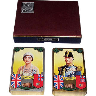 "Double Deck De la Rue ""Coronation of King George VI and Queen Elizabeth"" Playing Cards, c. 1937"