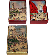 "2 Decks Arrco ""Century of Progress"" Playing Cards, '33-'34 Chicago World's Fair, $25/ea.: (i) ""Belgian Village""; and (ii) ""Avenue of Flags,"" c.1934"