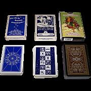 "3 Decks of Fortune Telling Cards, $15/ea.: (i) Heron ""Jeu de la Bonne Aventure""; (ii) Piatnik ""Jeux de la Fortune""; and (iii) Lo Scarabeo ""Gypsy Oracle Cards"""