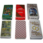 "3 Sets Tarot Cards, $15/ea.: (i) Editions Dusserre Tarot Nouveau Cards, Monet Backs (""Les Nymphéas""); (ii) Ducale Tarot Nouveau Cards; and (iii) Carta Mundi ""Lord of the Rings"" Tarot Cards, U.S. Games Systems Publisher"