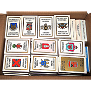 "76 Decks Carta Mundi ""Gemeente"" (""Town"") and Related Playing and Quartet Cards, $7/ea.: (i) 62 ""Gemeente"" Decks, 52 B/W, and 10 Color; and (ii) 14 Related Decks, 10 B/W, and 4 Color"