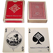 "USPC ""Sportsman's #202"" Playing Cards, Kansas City Athletic Club, c.1930"