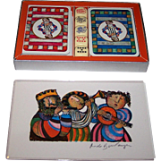 "Double Deck Matthieu Lithographe ""Boulanger"" Playing Cards, Senans Publisher, Ltd. Ed. (9189/9999), Graciela Rodo Boulanger Designs, w/ Dice and Signed, Original Print, c.1970"