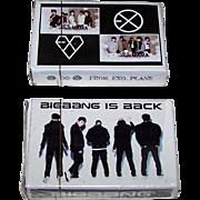 "2 Decks ""K-pop"" Playing Cards, ""Big Bang"" and ""Exo"", $15/ea."