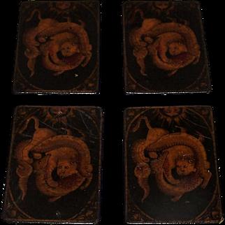 "4 Aces (""As""), Persian ""As Nas"" Set, c. 18th Century"