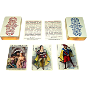 "Twin Decks Philibert ""Le Florentin"" Playing Cards, Becat Designs, Draeger Freres, Ltd. Ed. (4380/12000 and 4580/12000), c.1955"