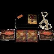 """Double Deck Papier Arti e Mestieri """"Montgolfiere"""" Playing Cards, c.2000"""