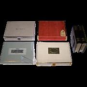 "5 Double Decks of U.S. Playing Cards, $10/ea.; (i) USPC ""Tiffany""; (ii) Western Publishing ""Guild""; (iii) Russell ""Gladstone""; (iv) USPC ""Congress""; and (v)  Arrco w/ ""Bookshelf"" Box"