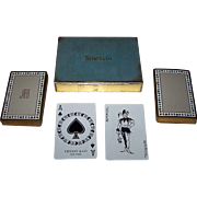 """Double Deck"" Tiffany & Co. (USPC) ""Tiffany"" Playing Cards, C.E. Carryl Court Card Designs, Reprint of 1879 ""Tiffany Harlequin"" Courts, c.1974"