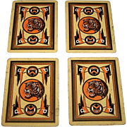 "4 Singles USPC Congress 606 ""Princeton University"" Playing Cards, College Series, c.1901-1919, $10/ea."