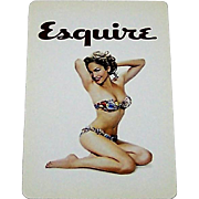 """Gemaco """"Esquire"""" Pin-Up Playing Cards, Jennifer Lopez Image, August, 2003 Cover"""