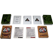 """2 Decks U.S. Military """"Health"""" Playing Cards, $15 ea.: (i) USACHPPM """"Readiness thru Health""""; and (ii) Dept. of Defense """"That Guy"""""""