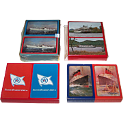 "4 Double Decks Maritime Playing Cards, $15 ea.: (i) USPC Congress ""Cosmopolitan Line""; (ii)  USPC Congress ""Delta Queen""; (iii) USPC American Beauty  ""Eastern Steamship""; and (iv) ""Cunard."" Maker Unknown"