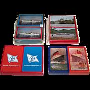 "4 Double Decks Maritime Playing Cards, $15 ea.: (i) USPC Congress ""Cosmopolitan Line""; (ii)  USPC Congress ""Delta Queen""; (iii) USPC American Beauty  ""Eastern Steamship""; and (iv) ""Cunard."" Maker Unknown"