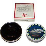 "Nintendo ""Kansai Lines"" Round Maritime Playing Cards, c.1965"