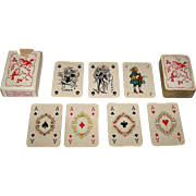 "Handa ""Patience de Luxe No. 50"" Patience Playing Cards [Mesmaekers Freres Designs, plus 2 Van Genechten Jokers], c.1945"