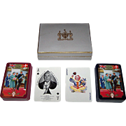 "Double Deck Worshipful Company Playing Cards, ""Royal Visit to Denmark 1957"""