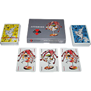 "Double Deck Piatnik ""Attersee"" Playing Cards, Edition Hilger, Christian Ludwig Attersee, c.1993"