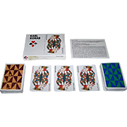 "Double Deck Piatnik ""Karl Korab"" Playing Cards, Edition Hilger, Karl Korab Designs, c.1980"