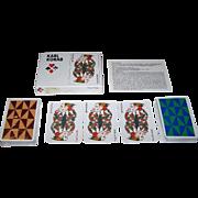 "Double Deck Piatnik ""Karl Korab"" Playing Cards, Edition Hilger, Karl Korab Designs, c.1980"