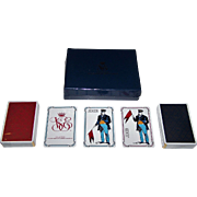 "Double Deck Grimaud ""Collection Venise Simplon-Orient Express Playing Cards,"" Gerard Gallet Designs, c.1984"