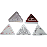 "Artology International, Inc. ""Delta Playing Cards,"" Triangle Shape, Prof. Manzoom Ali Designs and Concept, ""Deltaism,"" c.1988"