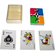Nintendo Standard English Pattern Playing Cards, Colorful Backs, c.1970s (?)