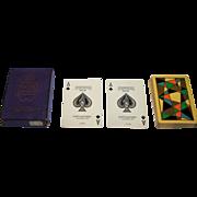 USPC Congress 606 Pinochle Playing Cards, Art Deco Design (backs), c.1929