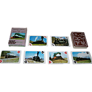 """Merrimack """"Engines and Trains from 'Round the World"""" Railroad Playing Cards, c.1998"""