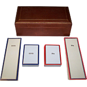 "4 Decks USPC ""Gene and Ina"" Playing Cards, Custom Made for Gene Autry and Wife Ina, w/ Custom Scoring Pads and Card Box, c.1942"