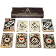 """Double Deck Grimaud """"Collection Venise Simplon-Orient Express Playing Cards,"""" [Originally Published 1890, """"Indiennes""""] c.1985"""