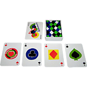 """ASS """"Simultané"""" Playing Cards (52/52, 1J), Sonia Delaunay Designs, c.1980"""