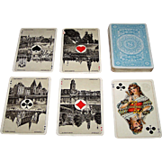 "Speelkaartenfabriek Nederland ""Neerlandia B"" Playing Cards, Dutch Scenic Aces, c.1916"