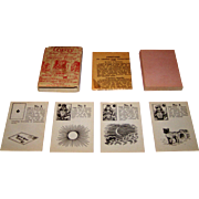 """Valmor Company """"Gypsy Fortune Telling Cards,"""" Lenormand Type, United Novelty Mfg. Co. Distributor/Publisher, c.1920s"""
