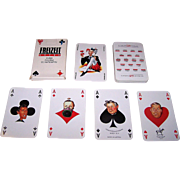 "Piatnik ""Freizeit Kurier Politiker"" Schnapskarten Playing Cards, Austrian Politicians, Altered Pips, c.1990"