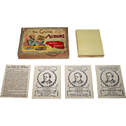 "Parker Brothers ""The Game of Authors"" Card Game, Nickel Edition, c.1896"
