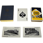 "Brown & Bigelow ""Erie Railroad"" Railroad Playing Cards, c. 1955"