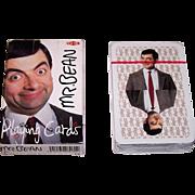 "Nelostuote OY (Finland) ""Mr. Bean"" Playing Cards, Rowan Atkinson Photographs, c. 1990s"