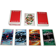 """Louwman & Parqui b.v. (Netherlands) """"Toyota"""" Advertising Playing Cards, Maker Unknown"""