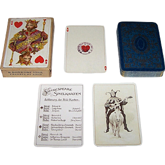 "Dondorf ""Shakespeare"" Playing Cards, Dondorf No. 192, John H.F. Bacon Paintings, c.1925"