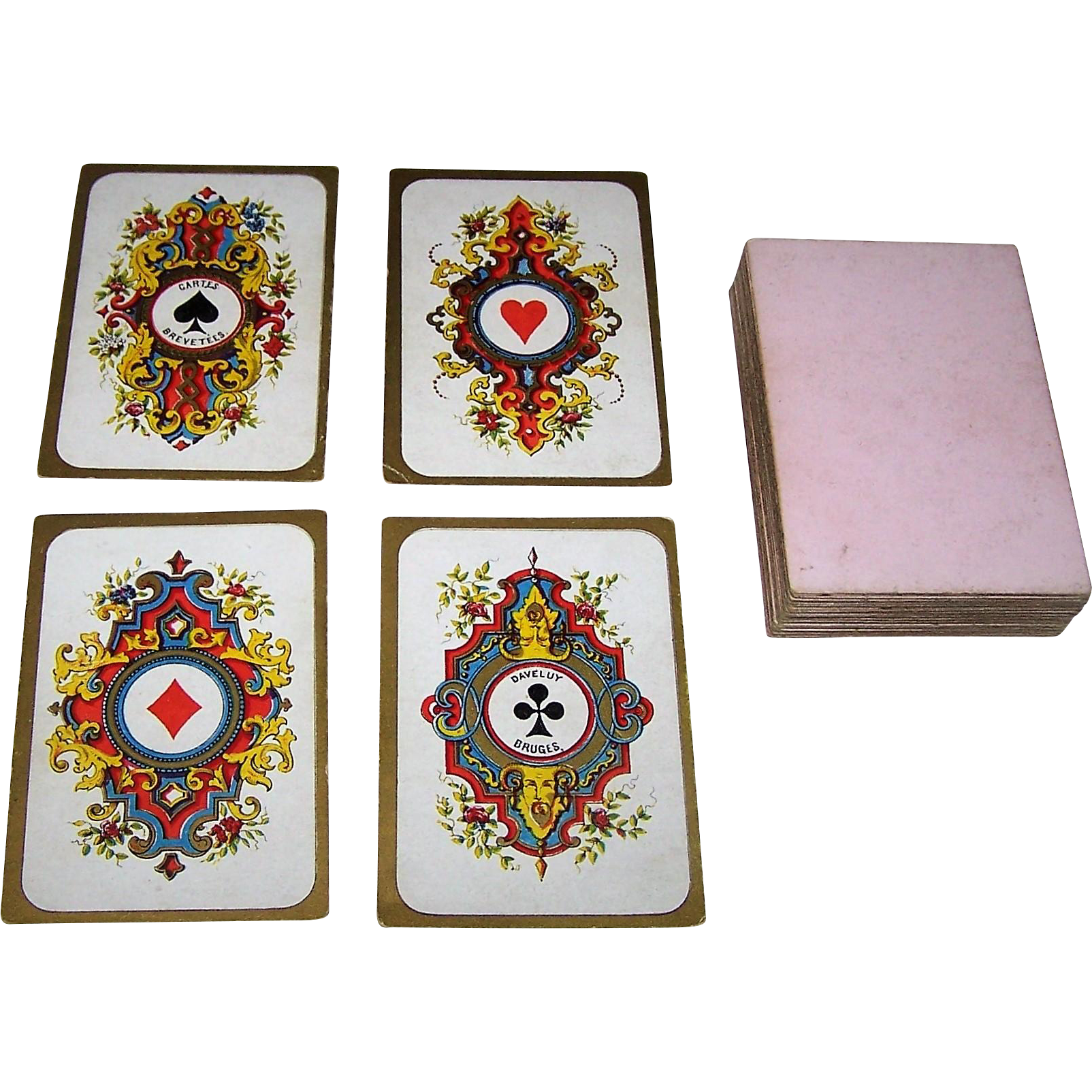"""Daveluy """"Moyen Age"""" (""""Middle Ages"""") Playing Cards, c.1860-1875"""