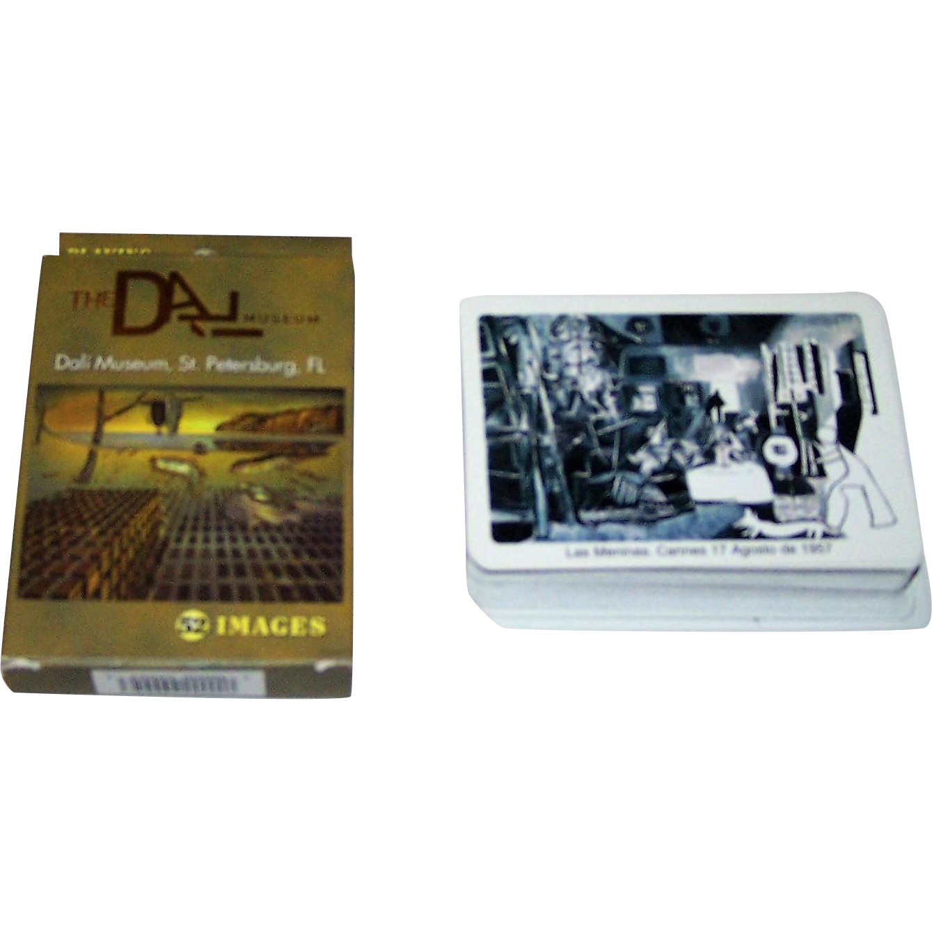 "2 Decks Playing Cards Modern Art Theme: (i) Dali Museum, St. Petersburg, Fla., $15; and (ii) Naipes Comas ""Las Meninas"", Picasso Design, $10"